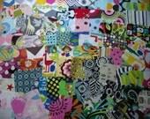 Fabric scraps/ fabric squares unique for quilting 55 squares