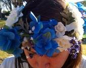 Floral crown, Wedding, Wedding Crown, Rose Crown, Floral headband, Boho, White flower crown, tiara, Bridal Crown,.Ready to ship