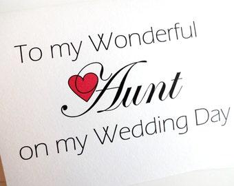 Aunt Wedding Card - Wedding Thank You for Aunt Card