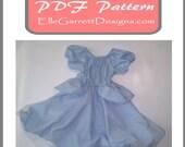 PDF Pattern - Princess Ball Gown size 6 months - girls 12