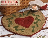 Primitive Heart Rug Hook Paper Pattern OFG PFATT