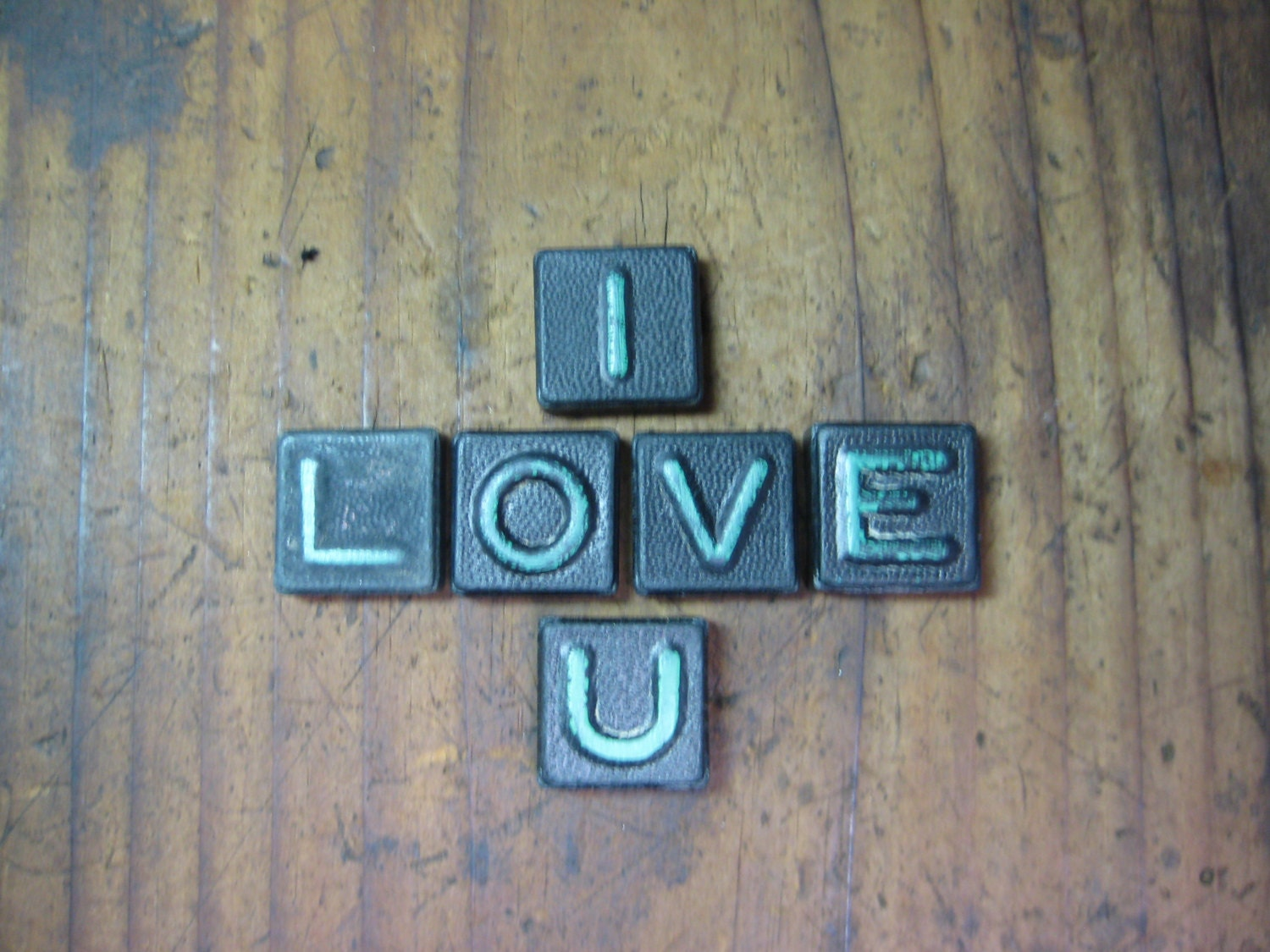 I Love U Vintage Wood Anagram Game Pieces Retro Home Decor Gifts Under 10 Gifts For Her