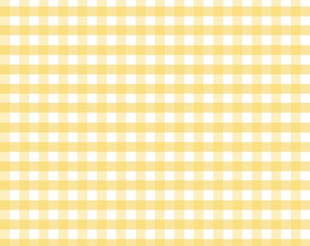 Riley Blake Designs, Medium Gingham in Yellow (C450 50)
