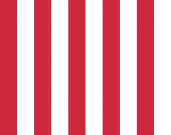 Riley Blake Designs, One Inch Stripe in Red (C540 80)