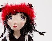 January and Philbert - ooak handmade art doll