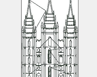 LDS SLC Temple Machine Embroidery Designs