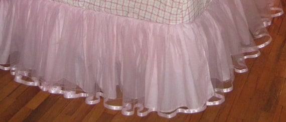 READY To Ship - 16 inch Queen TULLE Bedskirt - Choose Your Color