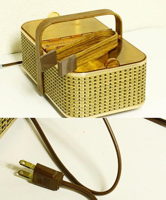 Electric Bun Warmer ~ Vintage bun warmer bread electric salton hot