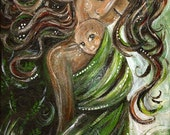 Organic - Archival 12x12 signed motherhood print from an acrylic painting by Katie m. Berggren