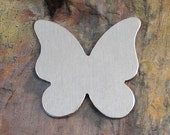 """5 Deburred 18G Aluminum 1"""" BUTTERFLY Stamping Blanks"""