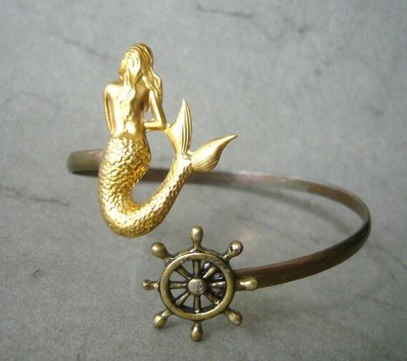 Mermaid bracelet  wrap style