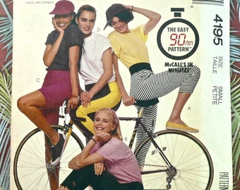 Vintage 1980s Womens Leggings Pattern with Shorts and Pants - McCalls 4195