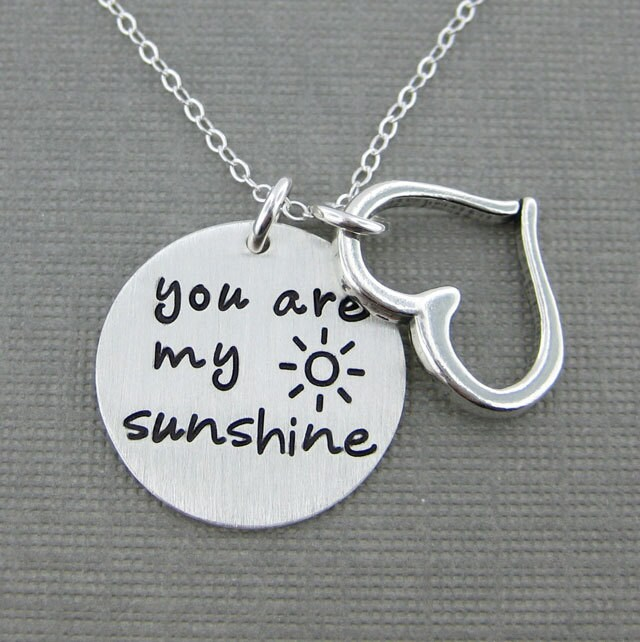 Sale 30 Off You Are My Sunshine Necklace Sterling Silver