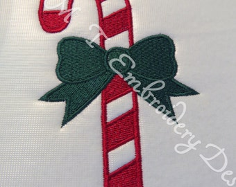 Candy Cane   Embroidery Design -3 Sizes