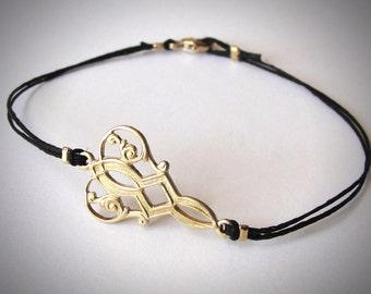 Art Deco bracelet in Gold Plate Great Gatsby