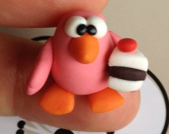Just a Nice Little Bird ( Un Simpatico Uccelletto) - A Little Polymer Clay Creation - No7