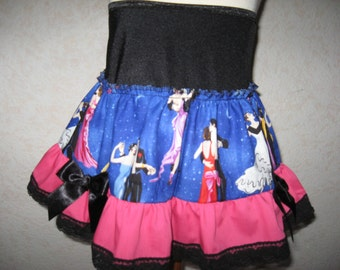 NEW Black,pink,blue vintage dance lace frilly lolita,punk,retro skirt,All sizes,sequoia