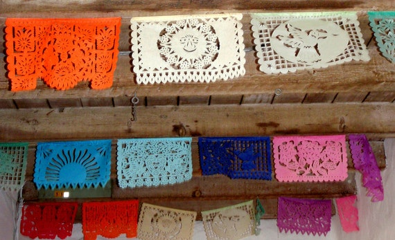All Occasion Tissue Paper Papel Picado Banner Fiesta - Birthday, Bridal Shower, Couple's shower, Rehearsal Dinner, Cinco de Mayo
