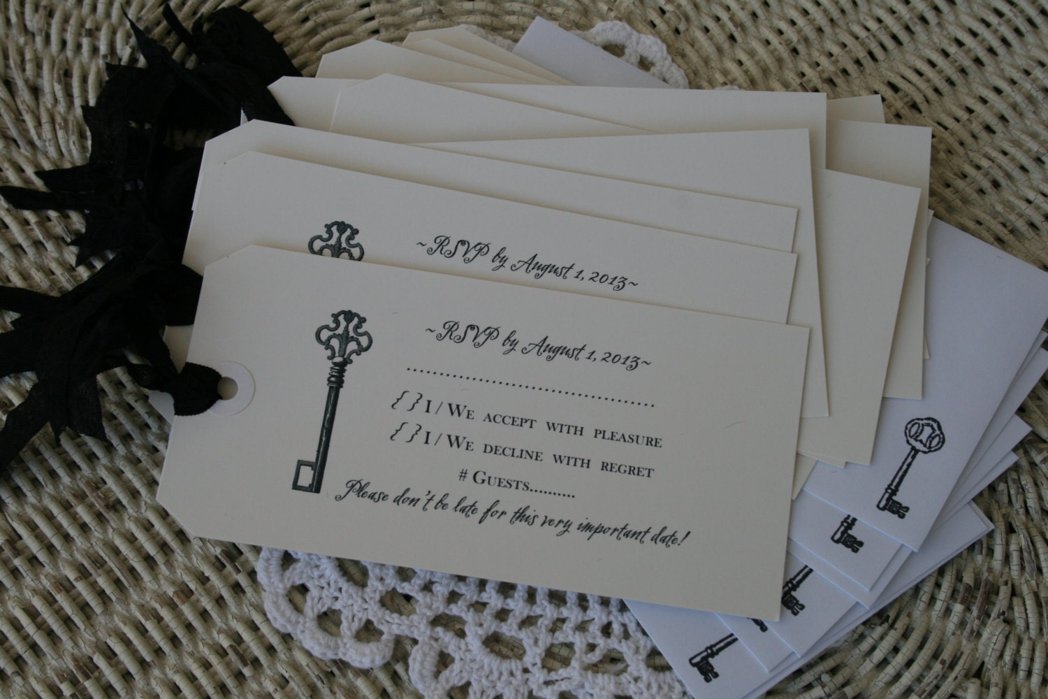 WEDDING INVITATION Reply Cards Only Alice In Wonderland Wedding Vintage Wedding