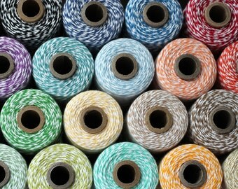 choose 6 colors of deluxe bakers twine, 90 total yards, 24 colors, perfect for gift wrapping your creations