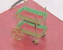 Rolling Tea Wagon Cart  Serving Cart Vintage  Ideal Petite Princess Dollhouse Furniture