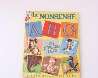 Vintage ABC's book Rand McNally Elf Book by edward lear