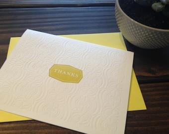 Thank You Card - Letterpress