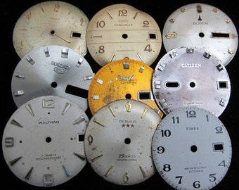 Vintage Antique Watch Dials Steampunk  Faces F 61