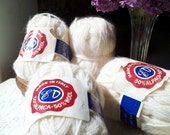 cream colored vintage alpaca wool blend yarn, made in Italy