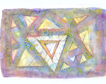 Trust Original Art Abstract Watercolor Painting