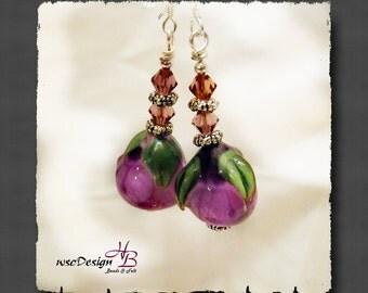 PSO052 Earrings,Earrings Hook,beaded Earrings, Sterling silver Hooks, Gift for Her, Gift of Love, Valentines Day,