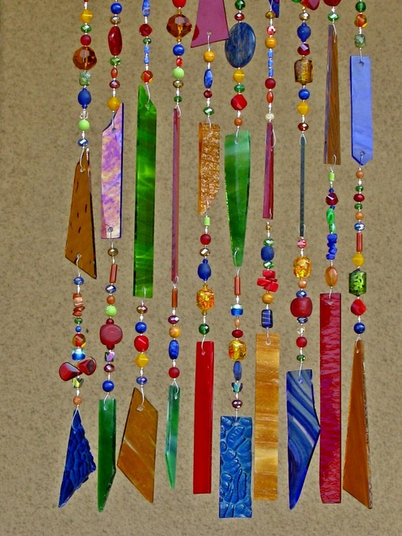 Windchime Suncatcher Stained Glass Wind Chime Glass Wind