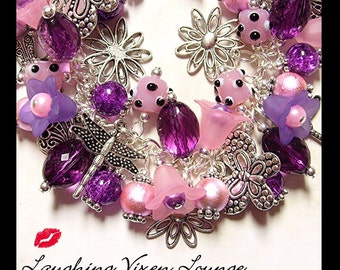 Butterfly Jewelry - Dragonfly Jewelry - Butterfly Bracelet - Dragonfly Necklace - Butterflies And Dragonflies Charm Bracelet