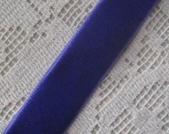 3 Yards Of Beautiful Velvet Ribbon Trim in Royal Purple 5/8 Inch Wide