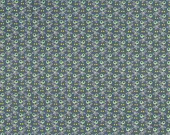 Aqua and Dark Teal Olive Branch Print Italian Paper ~ Carta Varese Italy IPV816A