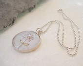 Solitary Flower Pendant Necklace