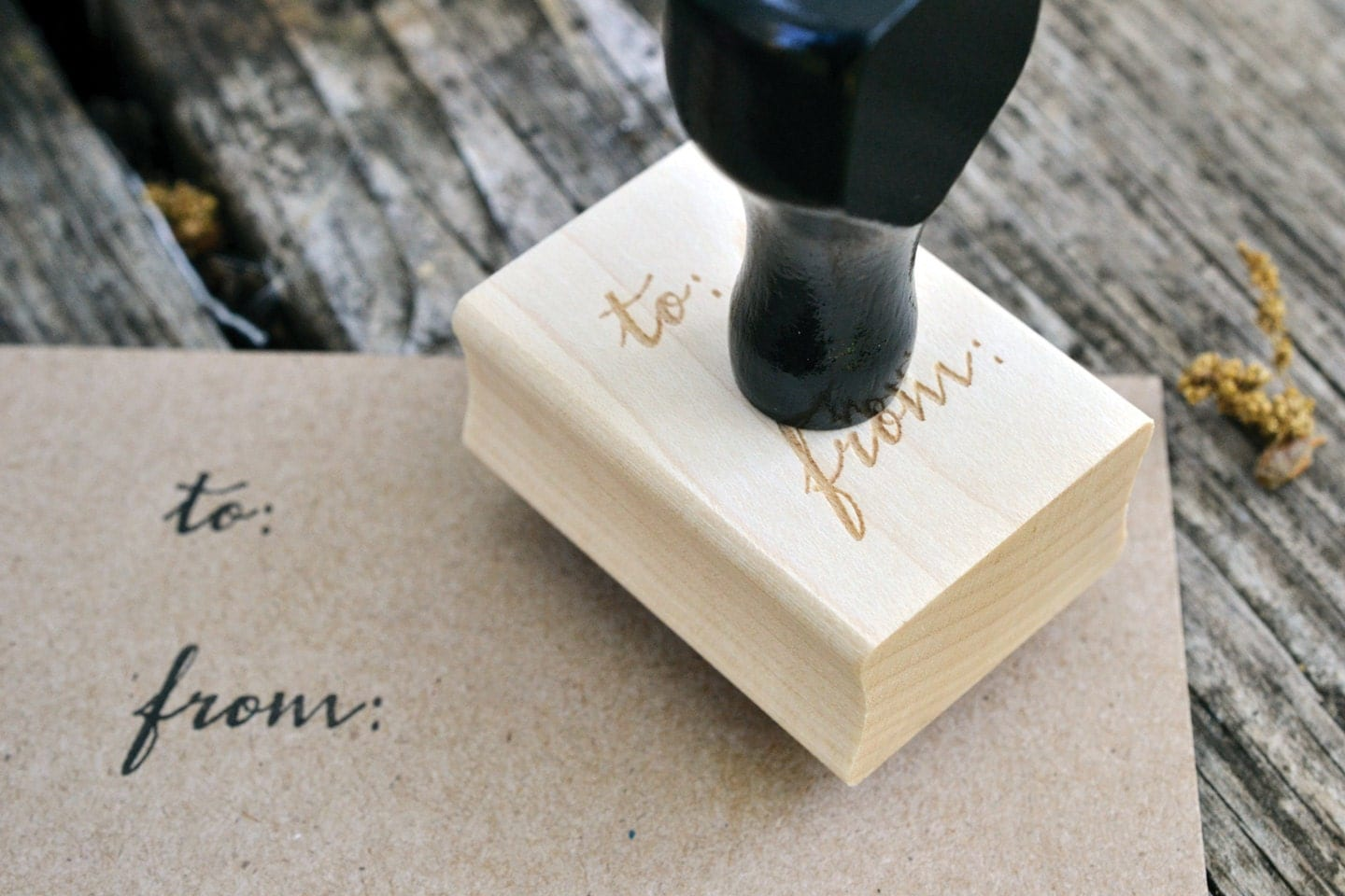 To From Calligraphy Word Rubber Stamp From Twinsoulstudio