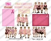 Digital Collage Sheet Breast Cancer Awareness Images (Sheet no. O98) Instant Download