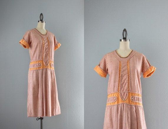 1920s dress vintage 20s gauzy cotton day dress twenties