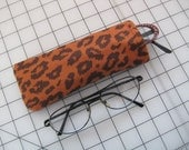 leopard reader eyeglass case easy to find spotted animal sunglass pouch