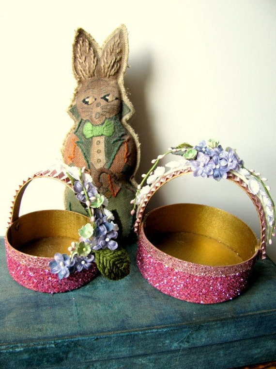 Vintage Style Easter Baskets by ADoseOfAlchemy on Etsy