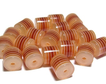 10x12mm Brown acrylic barrel beads
