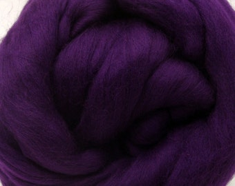 4 oz. Merino Wool Top - Aubergine - Ships Free
