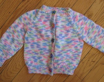 lightweight knit baby sweater - 0 - 6 months