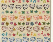 Cute Kawaii Panda Epoxy Sticker Sheet
