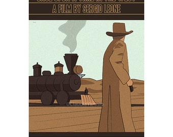Movie poster Once Upon a Time in the West 12x18 inches retro print
