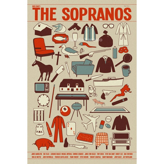 Poster The Sopranos 12x18 inches print