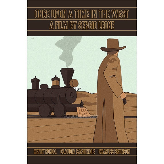 Once Upon A Time In The West: Movie Poster Once Upon A Time In The West 12x18 Inches Retro