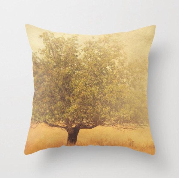 decorative pillow cover rustic home decor mustard yellow