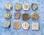 Dozen Tiny Vintage Watch Faces (WPF369)